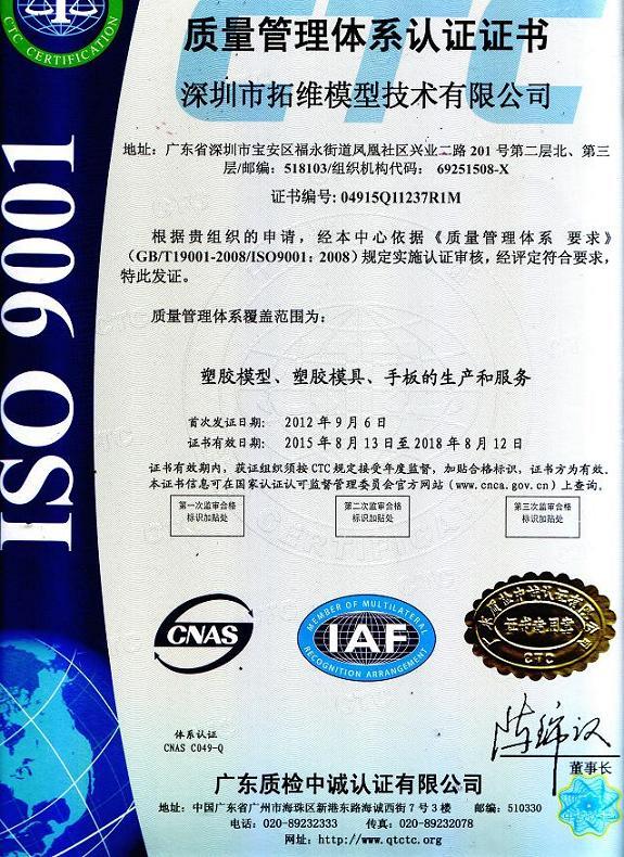 ISO9001質量管理體系認